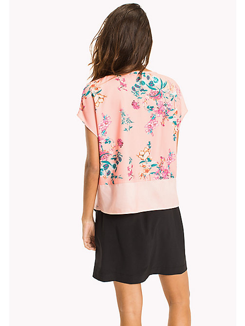 TOMMY JEANS Floral Crepe Cropped Top - FLORAL PRINT - TOMMY JEANS Festivals Season - detail image 1