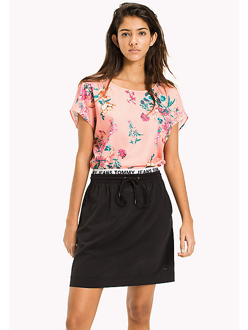 TOMMY JEANS Floral Crepe Cropped Top - FLORAL PRINT - TOMMY JEANS Festivals Season - main image