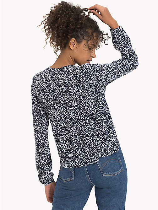 TOMMY JEANS Peplumblouse met geometrische print - SMALL GEO PRINT -  TOMMY JEANS DAMES - detail image 1