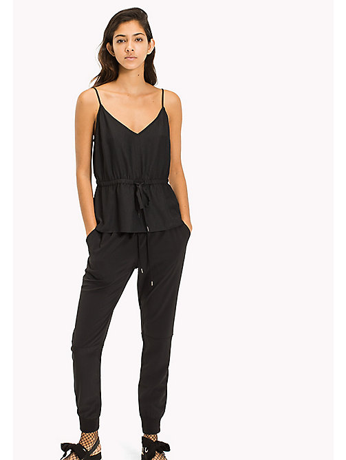 TOMMY JEANS V-Neck Strap Top - TOMMY BLACK - TOMMY JEANS TOMMY JEANS WOMEN - main image