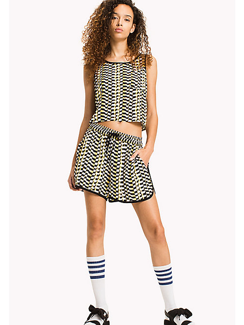 TOMMY JEANS Cropped Tank Top - CHEQUERED FLAG PRINT - TOMMY JEANS Tops - main image