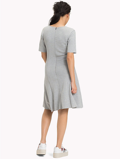 TOMMY JEANS Textured Jersey Dress - LIGHT GREY HTR - TOMMY JEANS Clothing - detail image 1
