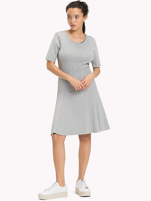 TOMMY JEANS Textured Jersey Dress - LIGHT GREY HTR - TOMMY JEANS Clothing - main image