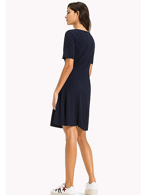 TOMMY JEANS Textured Jersey Dress - BLACK IRIS - TOMMY JEANS Женщины - подробное изображение 1