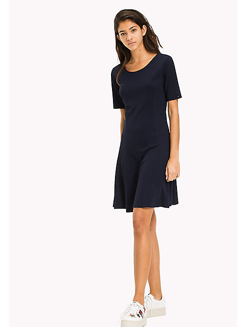 TOMMY JEANS Textured Jersey Dress - BLACK IRIS - TOMMY JEANS WOMEN - main image