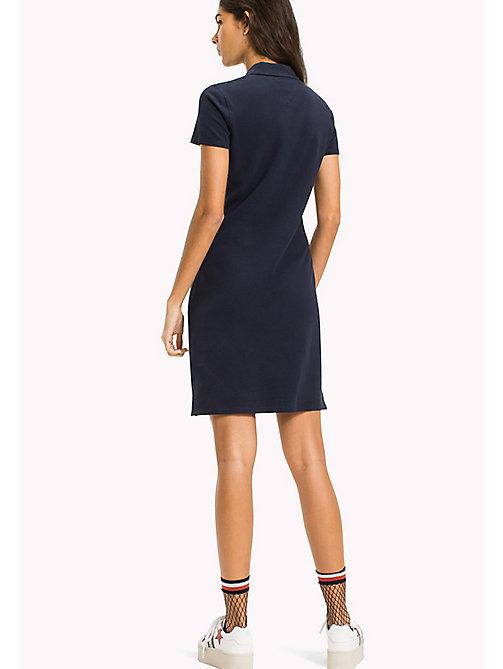 TOMMY JEANS Organic Cotton Stretch Polo Dress - BLACK IRIS - TOMMY JEANS WOMEN - detail image 1