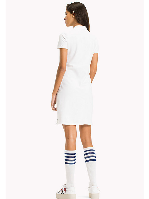 TOMMY JEANS Organic Cotton Stretch Polo Dress - BRIGHT WHITE - TOMMY JEANS Женщины - подробное изображение 1