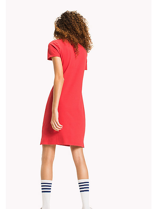 TOMMY JEANS Organic Cotton Stretch Polo Dress - SKI PATROL - TOMMY JEANS WOMEN - detail image 1