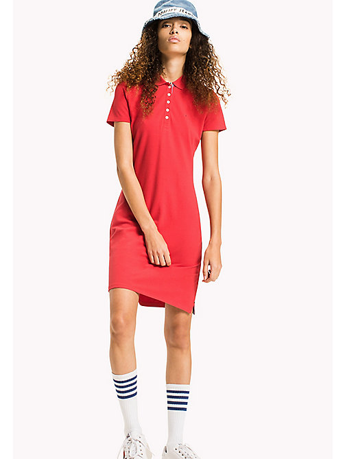 TOMMY JEANS Organic Cotton Stretch Polo Dress - SKI PATROL - TOMMY JEANS WOMEN - main image