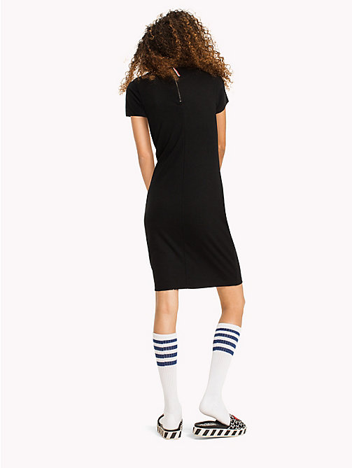 TOMMY JEANS Jersey Bodycon Dress - TOMMY BLACK - TOMMY JEANS Женщины - подробное изображение 1