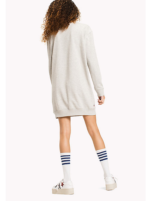 TOMMY JEANS Fleece Sweatshirt Dress - LIGHT GREY HTR - TOMMY JEANS WOMEN - detail image 1