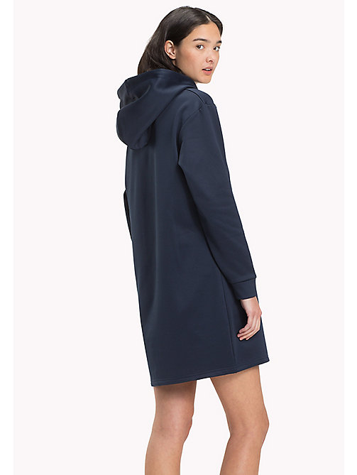 TOMMY JEANS Shiny Scuba Hoodie Dress - BLACK IRIS - TOMMY JEANS Dresses & Skirts - detail image 1