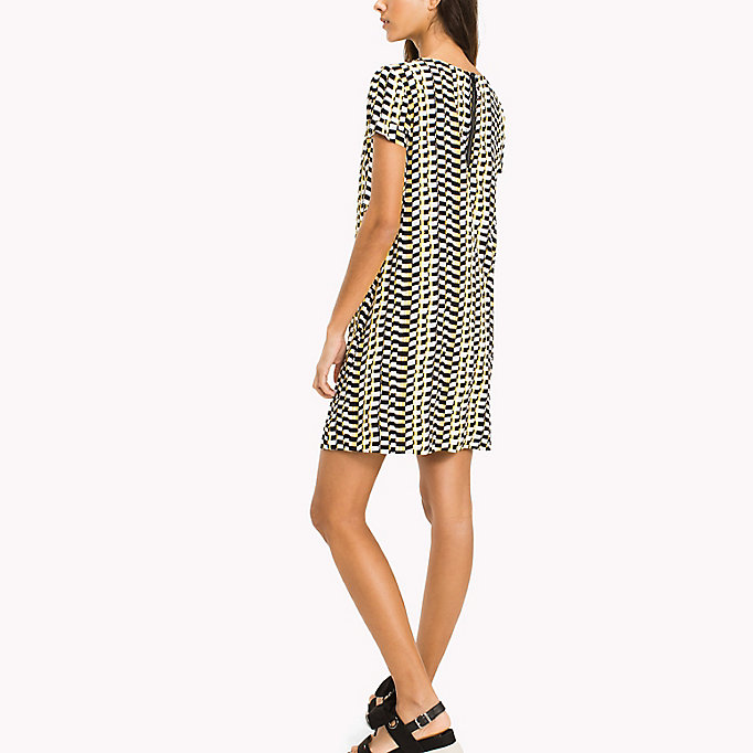 TOMMY JEANS Casual A Line Dress - SMALL GEO PRINT - TOMMY JEANS Clothing - detail image 1