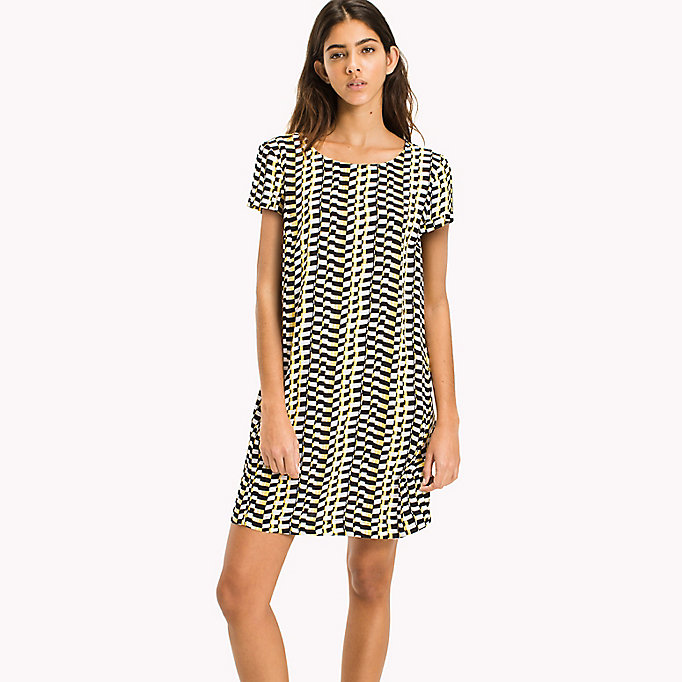 TOMMY JEANS Casual A Line Dress - SMALL GEO PRINT - TOMMY JEANS Clothing - main image