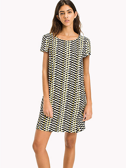 Casual A Line Dress - CHEQUERED FLAG PRINT - TOMMY JEANS Clothing - main image