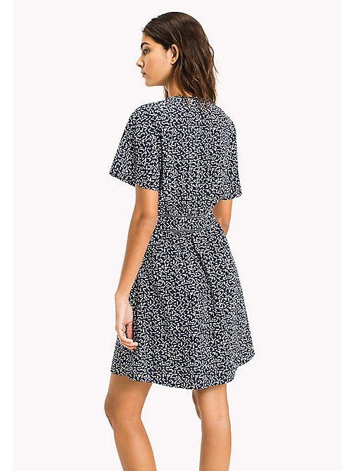 TOMMY JEANS Print Dolman Sleeve Dress - SMALL GEO PRINT - TOMMY JEANS WOMEN - detail image 1