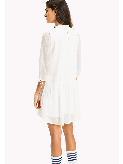 TOMMY JEANS Semi Sheer Ruffled Dress - SNOW WHITE -  VACATION - detail image 1