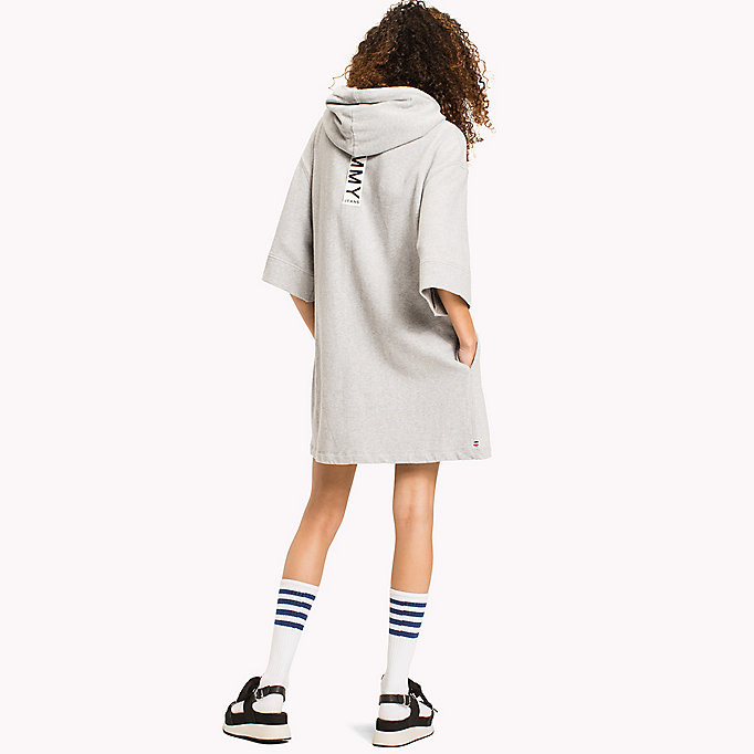 TOMMY JEANS Pure Cotton Hoodie Dress - GOLD EARTH - TOMMY JEANS Clothing - detail image 1