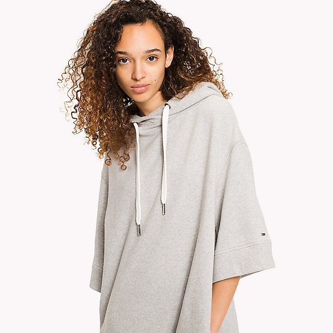 TOMMY JEANS Pure Cotton Hoodie Dress - GOLD EARTH - TOMMY JEANS Clothing - detail image 2
