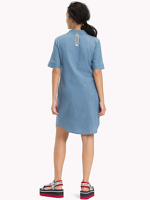 TOMMY JEANS Pure Cotton Shirt Dress - LIGHT INDIGO - TOMMY JEANS Clothing - detail image 1