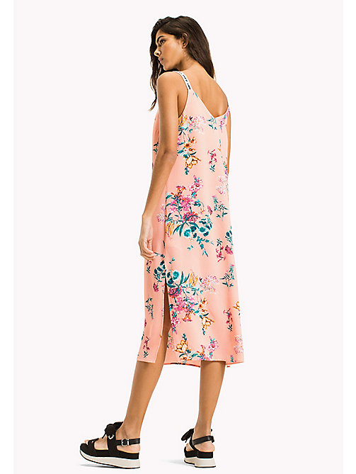 TOMMY JEANS Floral Print Strappy Dress - FLORAL PRINT - TOMMY JEANS VACATION - detail image 1