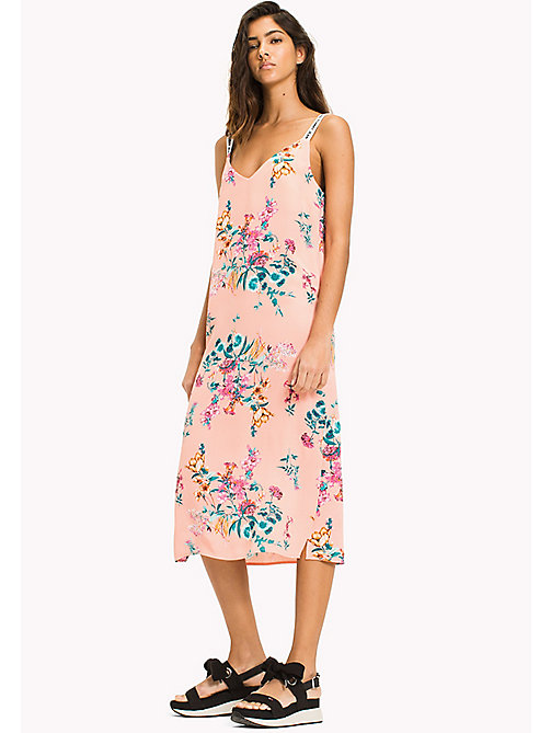 TOMMY JEANS Floral Print Strappy Dress - FLORAL PRINT - TOMMY JEANS VACATION - main image
