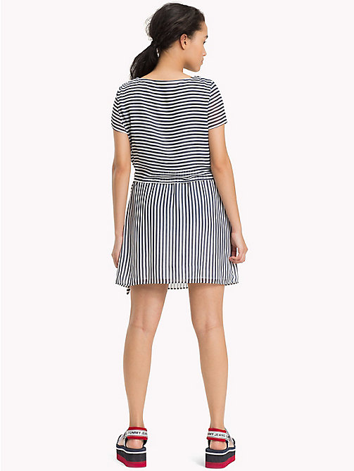 TOMMY JEANS Stripe Dress - BLACK IRIS / BRIGHT WHITE - TOMMY JEANS Mini - detail image 1