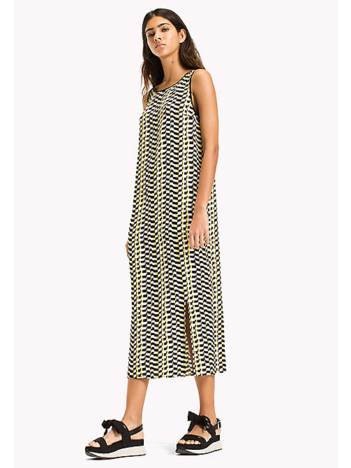 TOMMY JEANS Chequered Flag Print Dress - CHEQUERED FLAG PRINT - TOMMY JEANS Vacation Style - main image