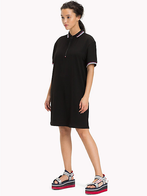 TOMMY JEANS Modern Polo Dress - TOMMY BLACK - TOMMY JEANS Midi - main image