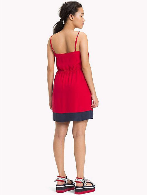TOMMY JEANS Viscose Poplin Strap Dress - SKI PATROL - TOMMY JEANS Mini - detail image 1