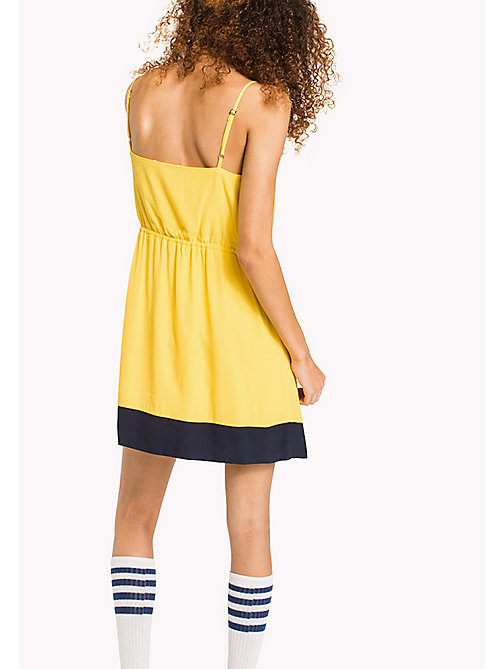 TOMMY JEANS Viscose Poplin Strap Dress - DANDELION -  VACATION - detail image 1