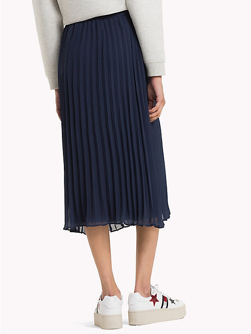 TOMMY JEANS Pleated Chiffon Skirt - BLACK IRIS - TOMMY JEANS Trousers & Skirts - detail image 1