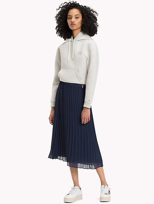 TOMMY JEANS Pleated Chiffon Skirt - BLACK IRIS - TOMMY JEANS Trousers & Skirts - main image