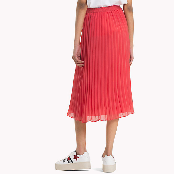 TOMMY JEANS Pleated Chiffon Skirt - BLACK IRIS - TOMMY JEANS Clothing - detail image 1