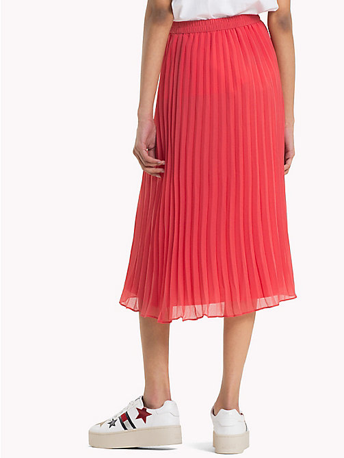 TOMMY JEANS Pleated Chiffon Skirt - SPICED CORAL - TOMMY JEANS Vacation Style - detail image 1