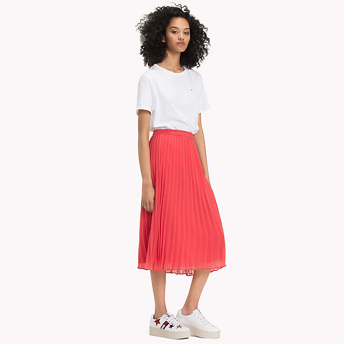 TOMMY JEANS Pleated Chiffon Skirt - BLACK IRIS - TOMMY JEANS Clothing - main image