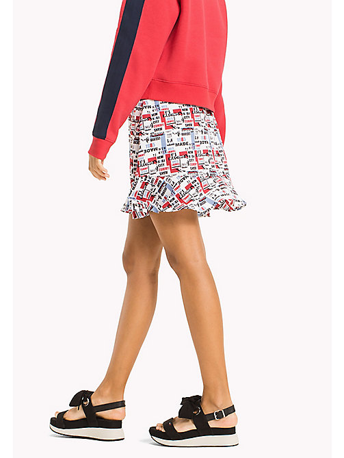 TOMMY JEANS Racing Print Mini Skirt - RACING PRINT - TOMMY JEANS Trousers & Skirts - detail image 1