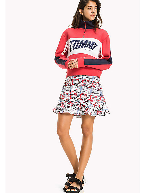 TOMMY JEANS Racing Print Mini Skirt - RACING PRINT - TOMMY JEANS Trousers & Skirts - main image