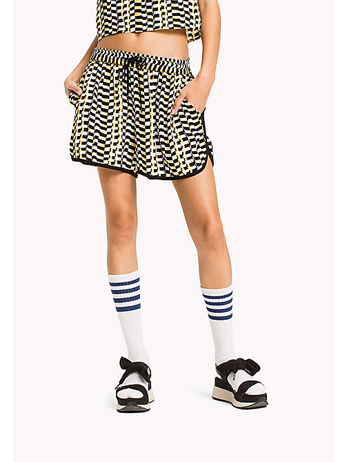 TOMMY JEANS Chequered Print Shorts - CHEQUERED FLAG PRINT - TOMMY JEANS Trousers & Skirts - main image