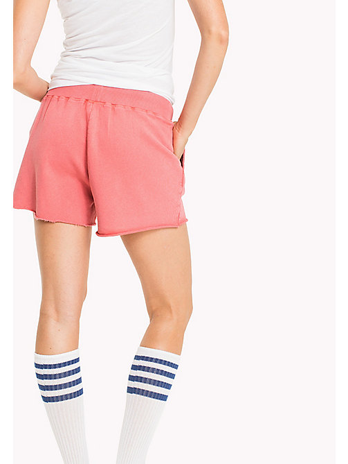 TOMMY JEANS Overdyed Cotton Shorts - SPICED CORAL - TOMMY JEANS WOMEN - detail image 1