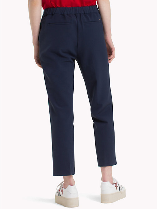 TOMMY JEANS Viscose Blend Trousers - BLACK IRIS -  Trousers & Skirts - detail image 1
