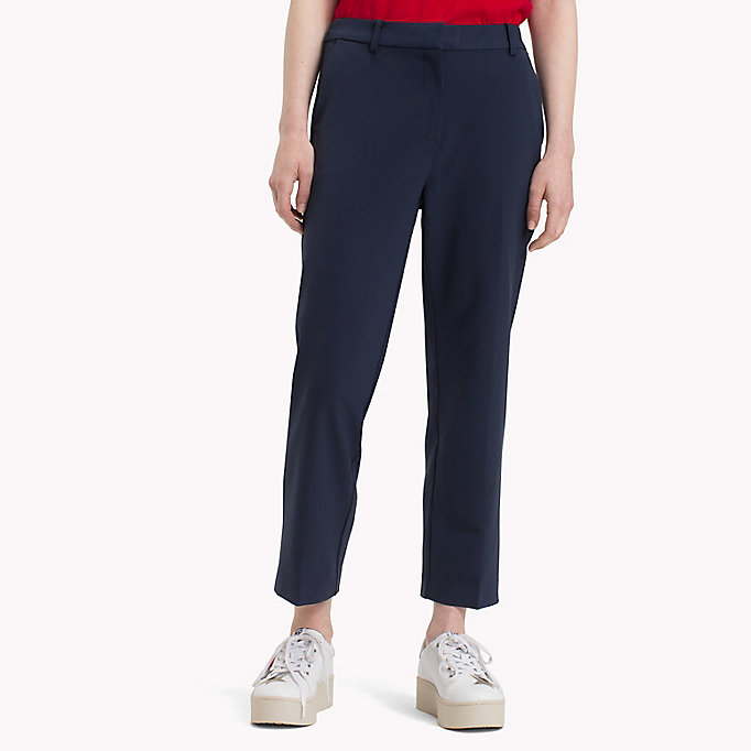 TOMMY JEANS Viscose Blend Trousers - TOMMY BLACK - TOMMY JEANS Women - main image