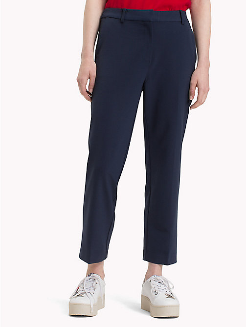 TOMMY JEANS Viscose Blend Trousers - BLACK IRIS - TOMMY JEANS WOMEN - main image