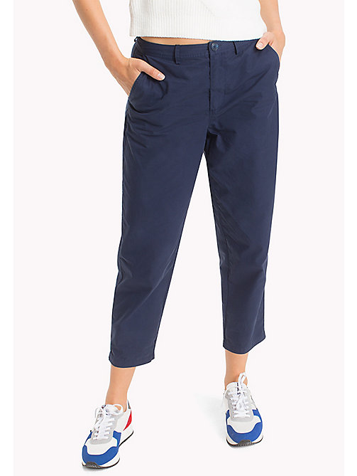 TOMMY JEANS Relaxed Chinos - BLACK IRIS - TOMMY JEANS WOMEN - main image