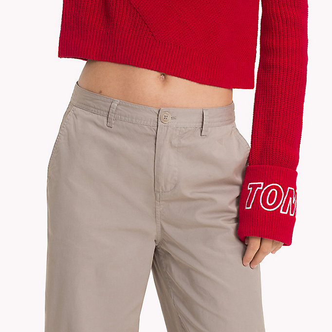 TOMMY JEANS Relaxed Chinos - BLACK IRIS - TOMMY JEANS Women - detail image 4
