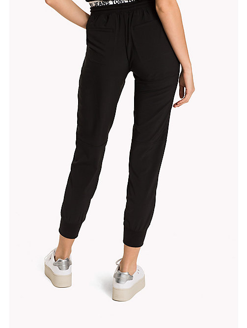 TOMMY JEANS Polyester Stretch Sweatpants - TOMMY BLACK -  Trousers & Skirts - detail image 1