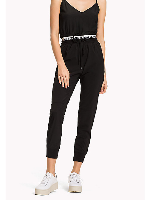TOMMY JEANS Polyester Stretch Sweatpants - TOMMY BLACK -  Trousers & Skirts - main image