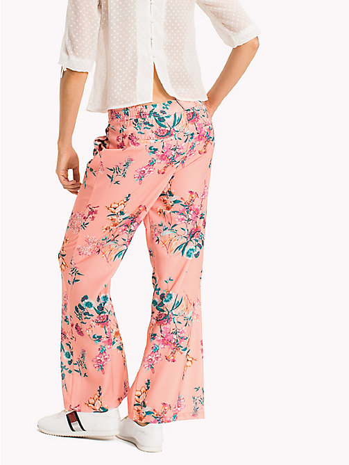 TOMMY JEANS Crepe Floral Trousers - FLORAL PRINT - TOMMY JEANS VACATION - detail image 1
