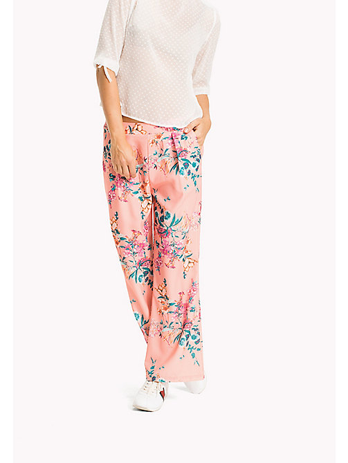TOMMY JEANS Crepe Floral Trousers - FLORAL PRINT - TOMMY JEANS VACATION - main image