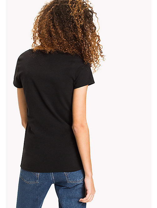 TOMMY JEANS Cotton Stretch Jersey T-Shirt - TOMMY BLACK - TOMMY JEANS WOMEN - detail image 1